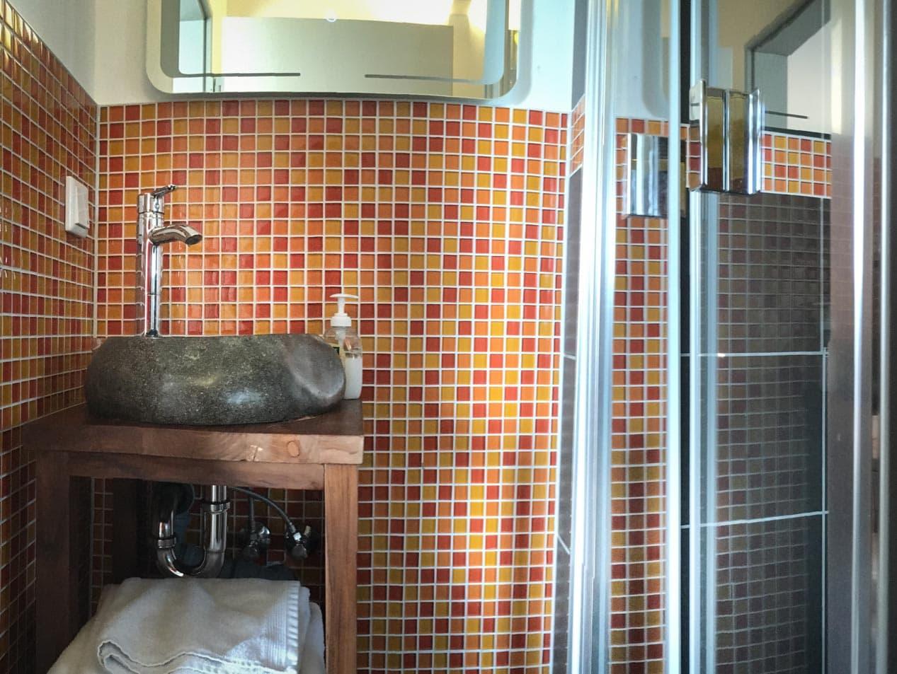 Badezimmer der Unterkunft | Hessischer Tennis-Verband