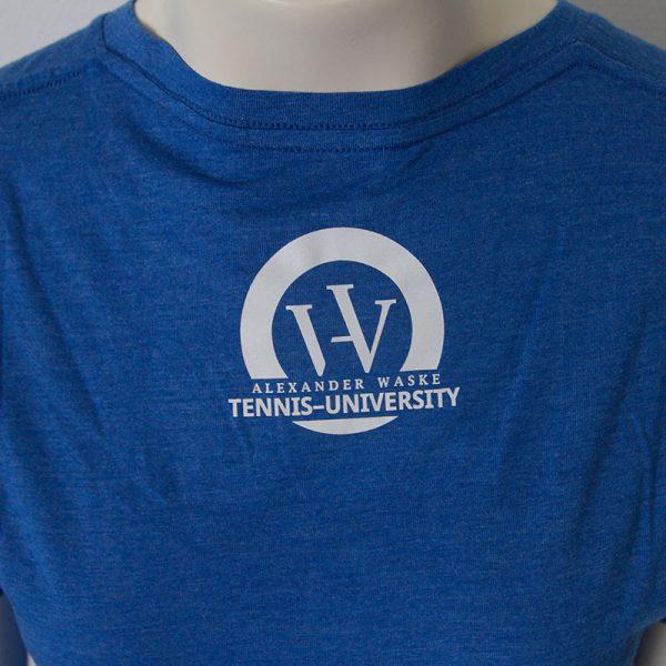 Shirt mit Bueffel Aufdruck in Blau - Rückseite | Tennis-University