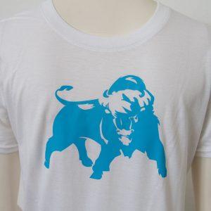 Shirt mit Bueffel Aufdruck in Weiss - Vorderseite | Tennis-University