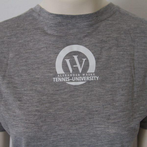 Shirt mit Bueffelkopf Aufdruck in Grau - Rueckseite | Tennis-University