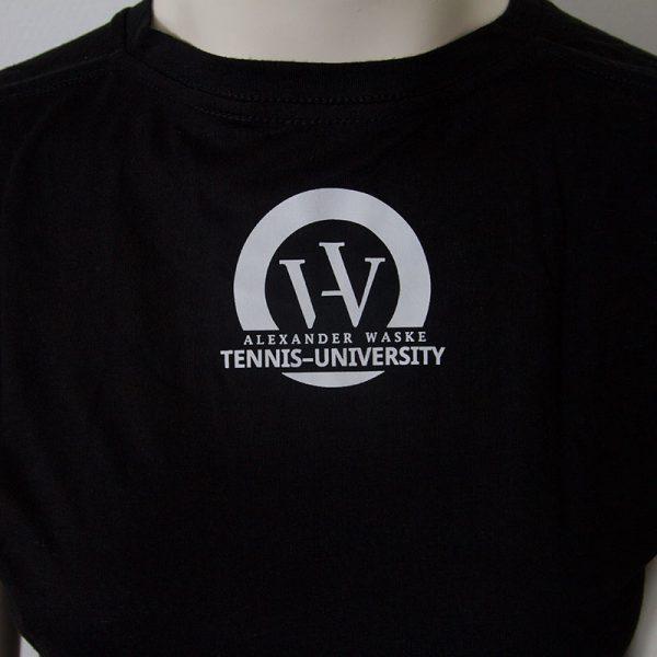 Shirt mit Bueffelkopf Aufdruck in Schwarz - Rueckseite | Tennis-University