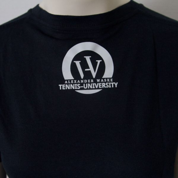 Logo-Shirt in Dunkelblau - Rueckseite | Tennis-University