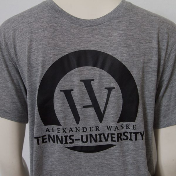 Logo-Shirt in Grau - Vorderseite   Tennis-University