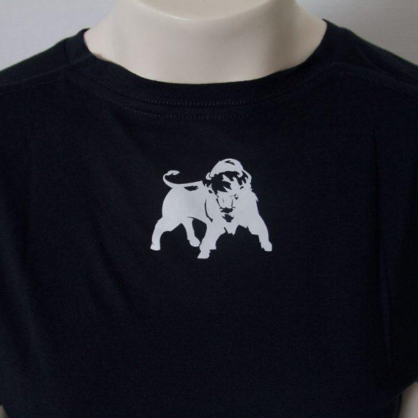 Zweifarbiges Logo-Shirt in Dunkelblau - Rueckseite   Tennis-University