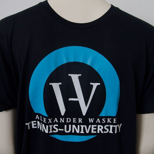 Zweifarbiges Logo-Shirt in Dunkelblau - Vorderseite | Tennis-University