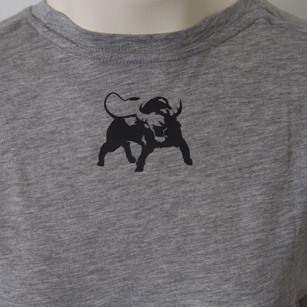 Zweifarbiges Logo-Shirt in Grau - Rueckseite | Tennis-University