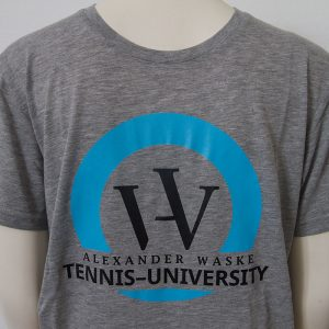 Zweifarbiges Logo-Shirt in Grau - Vorderseite | Tennis-University