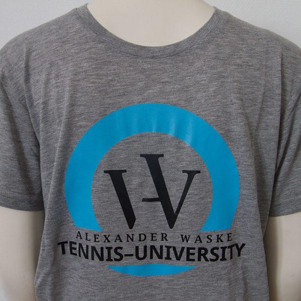 Zweifarbiges Logo-Shirt in Grau - Vorderseite | Tennis-University