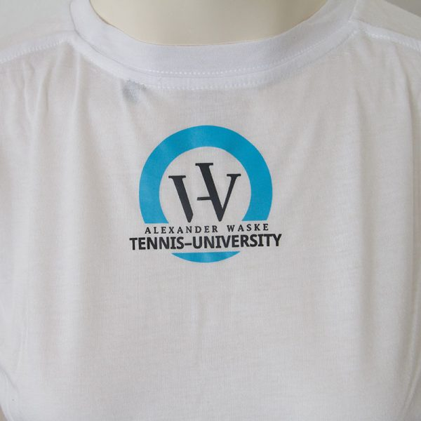 Shirt mit TENNIS Schriftzug in weiss - Rueckseite | Tennis-University