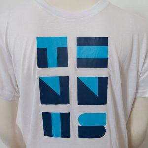 Shirt mit TENNIS Schriftzug in weiss - Vorderseite | Tennis-University